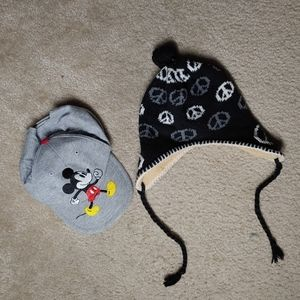 Hat bundle lot Mickey peace beanie cap
